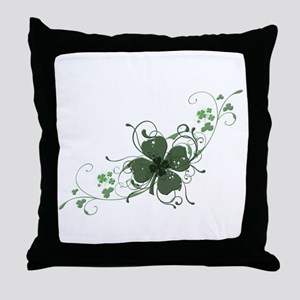Elegant Shamrock Throw Pillow