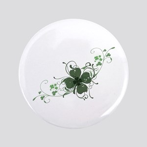 "Elegant Shamrock 3.5"" Button"