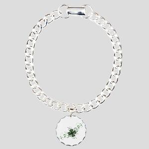 Elegant Shamrock Charm Bracelet, One Charm
