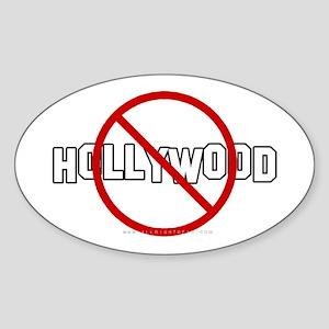 Anti-Hollywood Oval Sticker