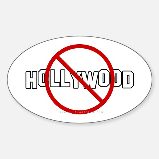 Anti-Hollywood Oval Decal