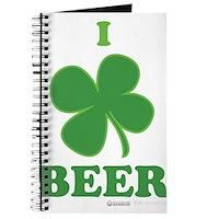 I Love Beer Clover Journal