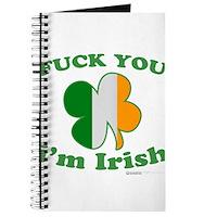F You Im Irish Clover Flag Journal