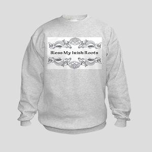 Bless My Irish Roots Kids Sweatshirt