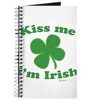Kiss Me Im Irish Lucky Clover Journal