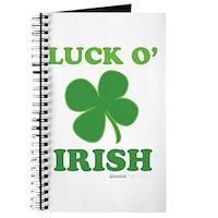 Luck O' Irish Clover Journal