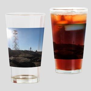 Hadley Mountain Firetower Drinking Glass