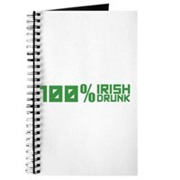 100% Irish 100% Drunk Journal