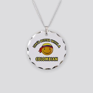 Life's better with a Columbian Necklace Circle Cha