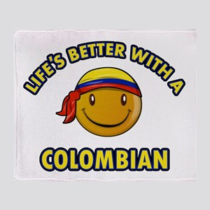 Life's better with a Columbian Throw Blanket