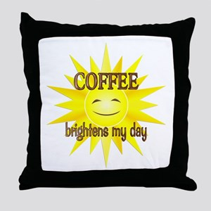 Coffee Brightens Throw Pillow