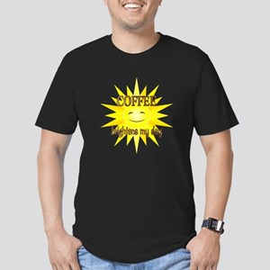 Coffee Brightens Men's Fitted T-Shirt (dark)