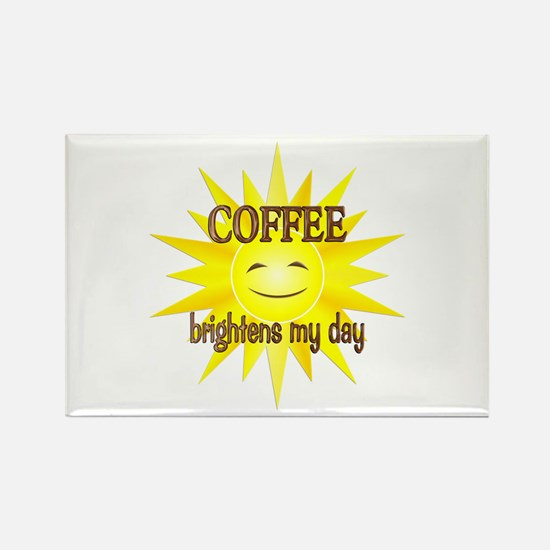 Coffee Brightens Rectangle Magnet
