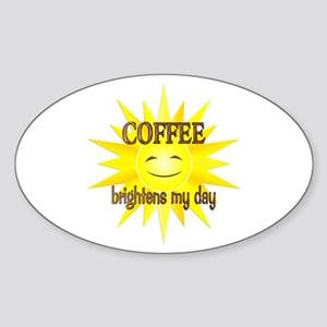 Coffee Brightens Sticker (Oval)