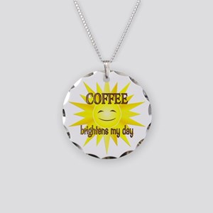 Coffee Brightens Necklace Circle Charm