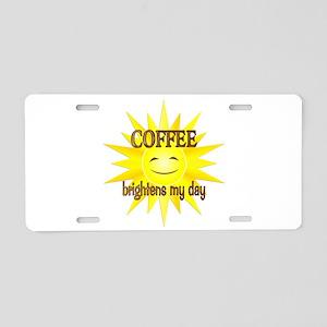 Coffee Brightens Aluminum License Plate