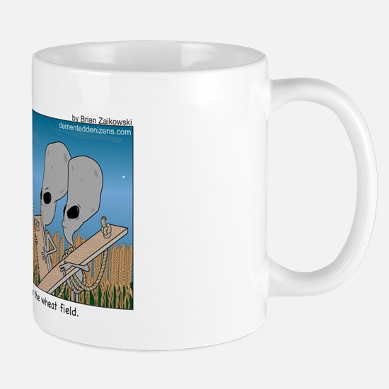 An awkward moment in the wheat field Mug
