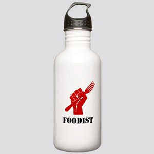 """Foodist Revolution (Red)"" Stainless Water Bottle"