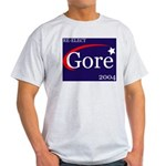 RE-ELECT GORE in 2004 Ash Grey T-Shirt
