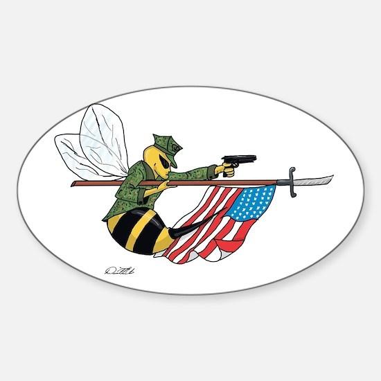 Seabee Sticker (Oval)