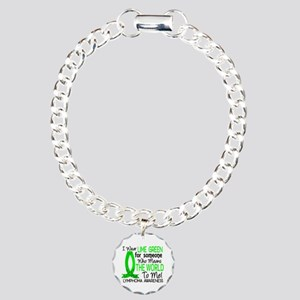 Means World To Me 1 Lymphoma Shirts Charm Bracelet