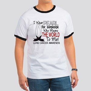 Means World To Me 1 Lung Cancer Shirts Ringer T