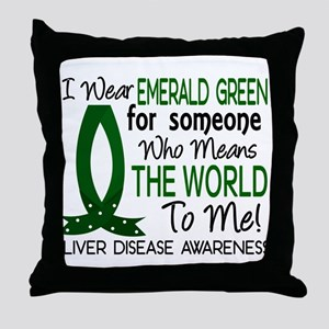 Means World To Me 1 Liver Disease Shirts Throw Pil