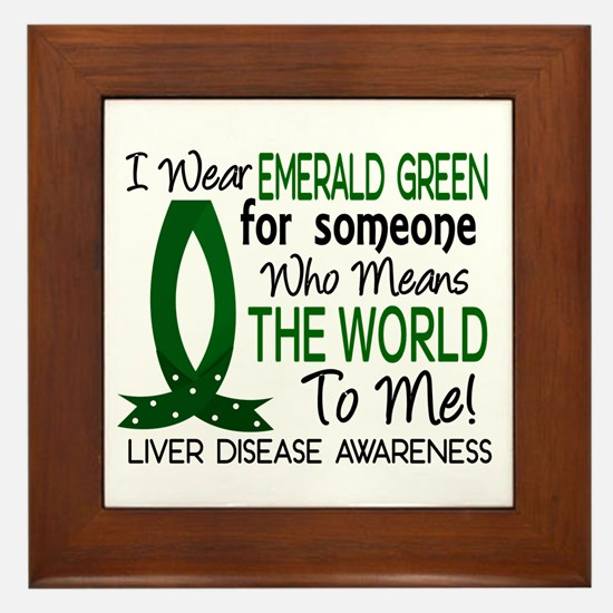 Means World To Me 1 Liver Disease Shirts Framed Ti