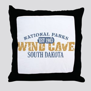 Wind Cave Park South Dakota Throw Pillow