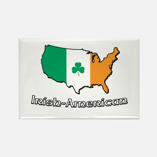 Irish-US Map Rectangle Magnet (100 pack)
