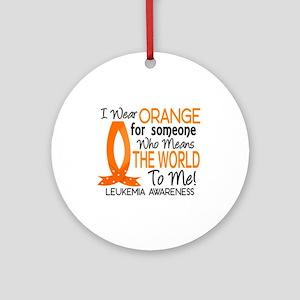 Means World To Me 1 Leukemia Shirts Ornament (Roun
