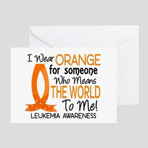 Means World To Me 1 Leukemia Shirts Greeting Card