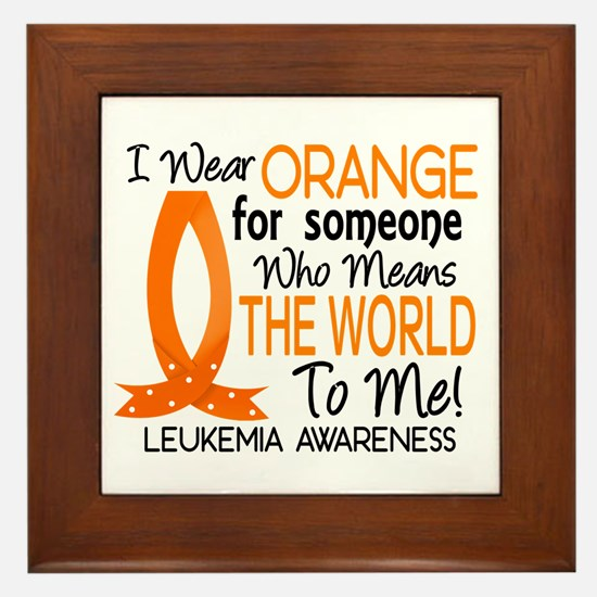 Means World To Me 1 Leukemia Shirts Framed Tile