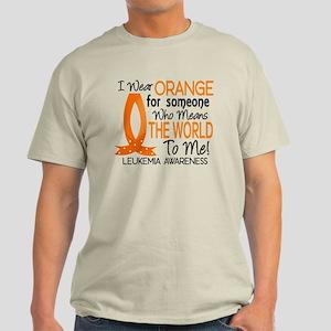 Means World To Me 1 Leukemia Shirts Light T-Shirt