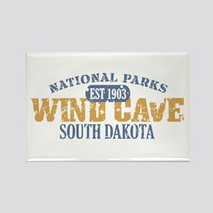 Wind Cave Park South Dakota Rectangle Magnet