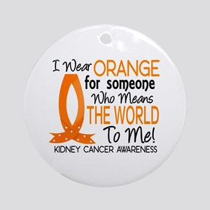 Means World To Me 1 Kidney Cancer Shirts Ornament