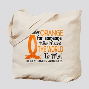 Means World To Me 1 Kidney Cancer Shirts Tote Bag