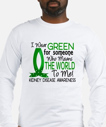 Means World To Me 1 Kidney Disease Shirts Long Sle