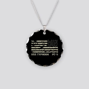 USS Typhoon Necklace Circle Charm