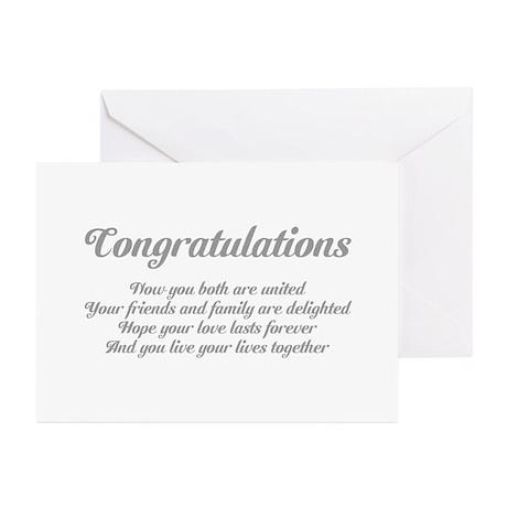Wedding Congratulations Poem. Greeting Cards (Pk o by