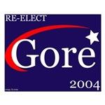 RE-ELECT GORE in 2004 Small Poster