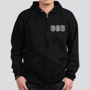 666 Zip Hoodie (dark)