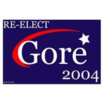 RE-ELECT GORE in 2004 Large Poster