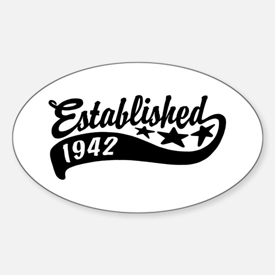 Established 1942 Sticker (Oval)