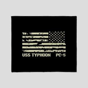 USS Typhoon Throw Blanket
