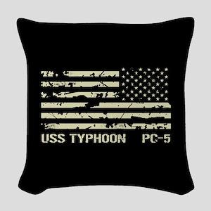 USS Typhoon Woven Throw Pillow