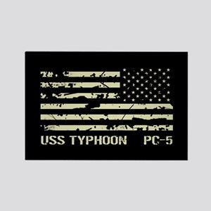 USS Typhoon Rectangle Magnet