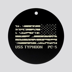 USS Typhoon Round Ornament