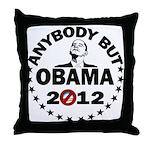 Anybody but Obama Throw Pillow