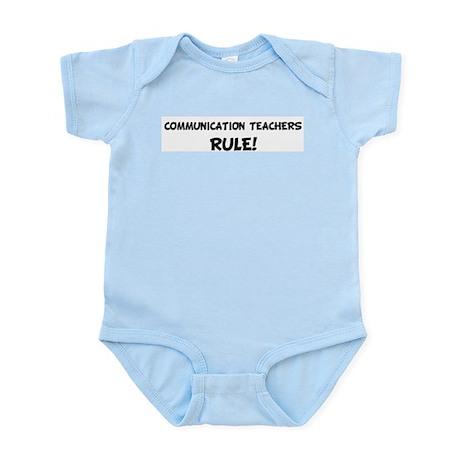 COMMUNICATION TEACHERS Rule! Infant Creeper